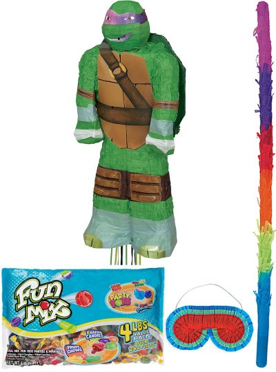 Pull String Donatello Teenage Mutant Ninja Turtles Pinata Kit