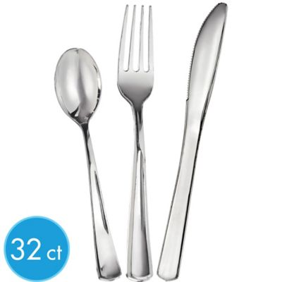 Bright Silver Look Cutlery 32ct