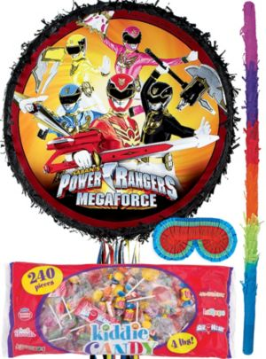Pull String Power Rangers Pinata Kit
