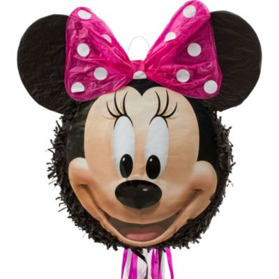 Pull String Smiling Minnie Mouse Pinata