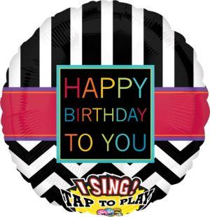 Happy Birthday Balloon - Singing Chevron