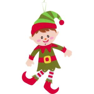 Jointed Felt Elf