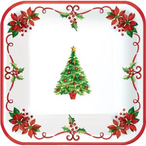 Traditional Christmas Lunch Plates 40ct
