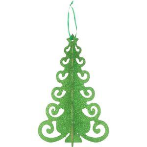 3D Green Glitter Christmas Tree