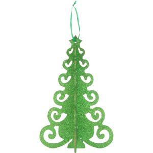 3D Green Glitter Christmas Tree