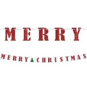 Glitter Classic Christmas Letter Banner