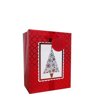 Red & White Holiday Gift Bag