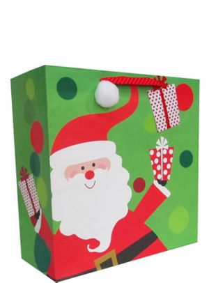 Whimsical Santa Christmas Gift Bag
