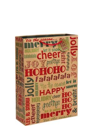 Kraft Holiday Greetings Christmas Gift Bag