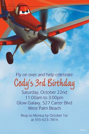 Custom Planes Invitations