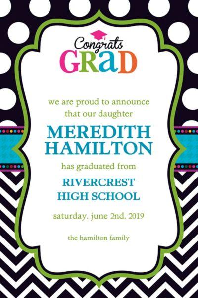 Bright Congrats Grad Custom Announcement