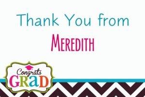 Custom Bright Congrats Grad Thank You Notes