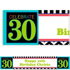 Custom 30th Celebration Banner 6ft
