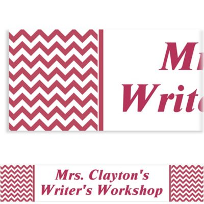 Berry Chevron Custom Banner