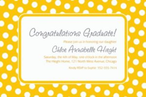 Custom Sunshine Yellow Polka Dot Invitations