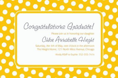 Sunshine Yellow Polka Dot Custom Invitation