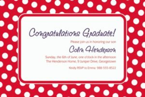 Custom Red Polka Dot Invitations