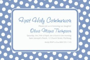 Custom Pastel Blue Polka Dot Invitations