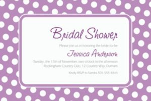 Custom Lavender Polka Dot Invitations