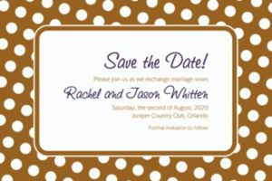 Custom Gold Polka Dot Invitations