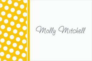 Custom Sunshine Yellow Polka Dot Thank You Notes