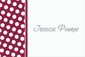 Custom Berry Polka Dot Thank You Notes