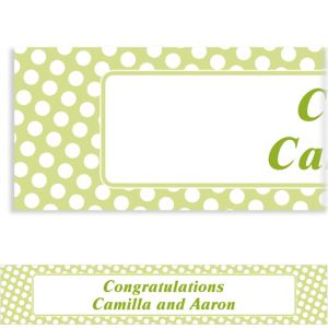 Custom Leaf Green Polka Dot Banner 6ft