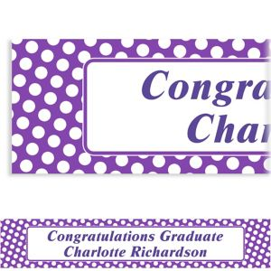 Custom Purple Polka Dot Banner 6ft