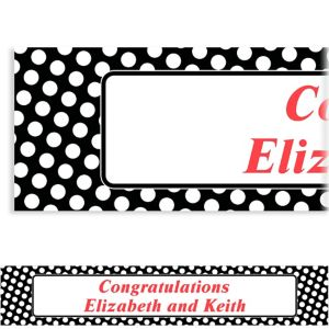 Custom Black Polka Dot Banner 6ft