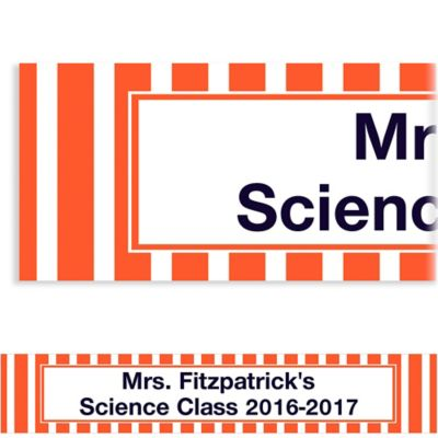 Orange Stripe Custom Banner