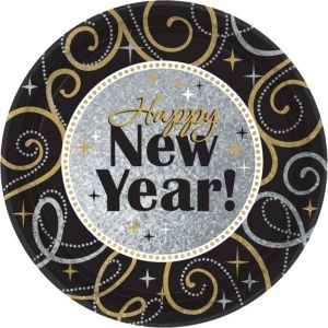 Sparkling New Year's Lunch Plates 8ct