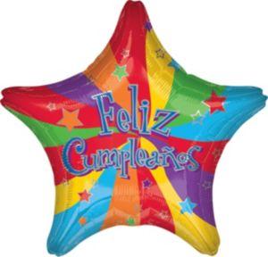 Feliz Cumpleanos Balloon - Estrella