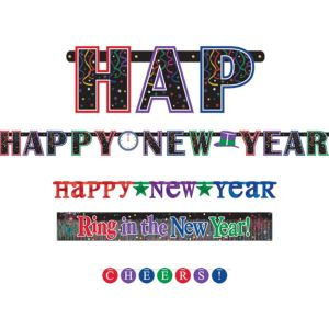 Cheers New Year's Banners 4ct