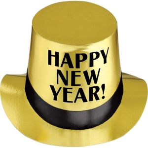 Gold New Year's Top Hat