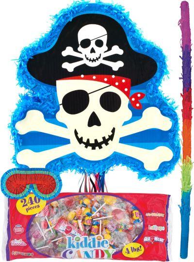 Pull String Skull and Crossbones Pinata Kit