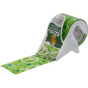 Kiwi Green Peace Sign Packaging Tape