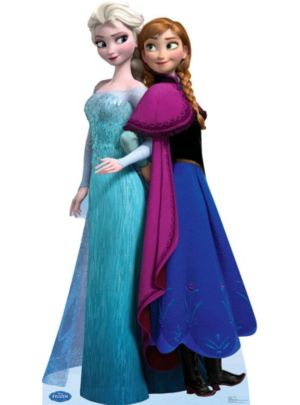 Anna and Elsa Frozen Life Size Cardboard Cutout 70in