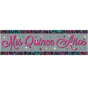 Mis Quince Quinceanera Banner
