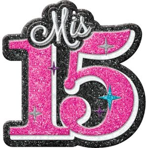 Glitter Mis Quince Quinceanera Cutout
