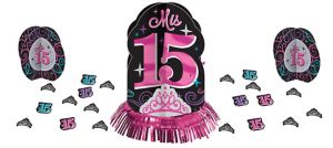 Mis Quince Quinceanera Table Decorating Kit 23pc
