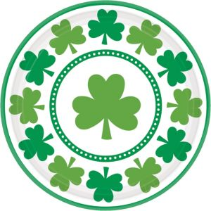 Lucky Shamrock Lunch Plates 8ct