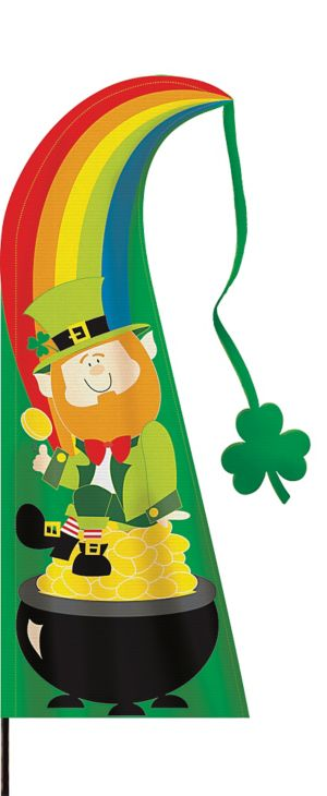 St. Patrick's Day Feather Flag Yard Stake