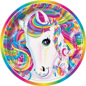 Lisa Frank Rainbow Horse Lunch Plates 8ct