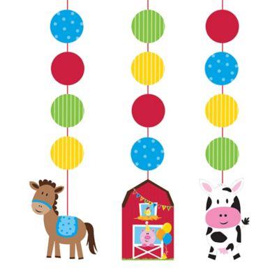 Farmhouse Fun String Decorations 3ct