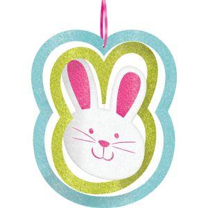 Glitter Spinning Easter Bunny