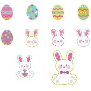Mini Glitter Easter Cutouts 10ct