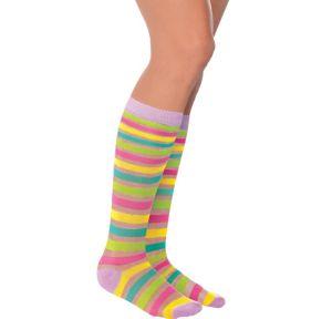 Easter Pastel Stripe Crew Socks