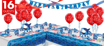Shark Party Supplies Deluxe Party Kit