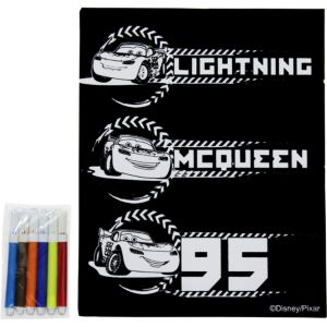 Cars Velvet Coloring Poster with Markers