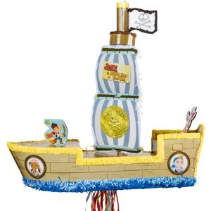 Pull String Pirate Ship Pinata - Jake and the Never Land Pirates